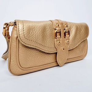 Cole Haan Village Gold Tone Three Pocket Wristlet